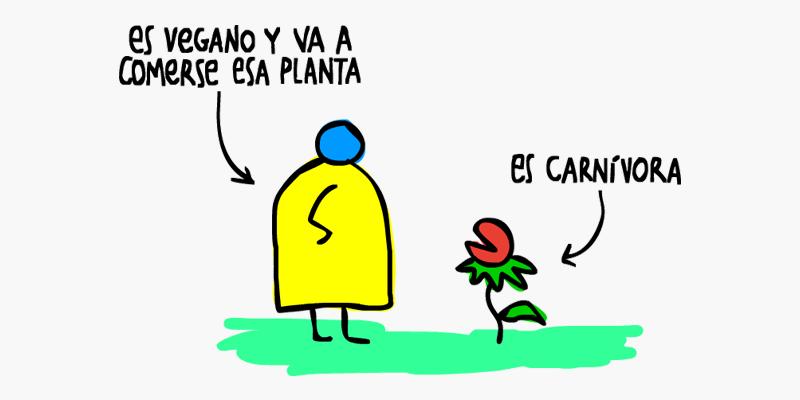Es vegano y va a comerse esa planta