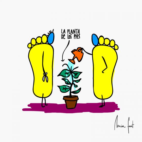 La planta de los pies