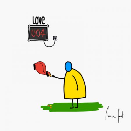 Haciendo cola para el amor